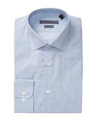 John Varvatos - Blue Patterned Slim Fit Dress Shirt for Men - Lyst