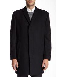 Kenneth Cole - Black Elan Wool Blend Top Coat for Men - Lyst