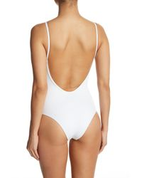 Tavik - White Lila Ribbed One-piece Swimsuit - Lyst