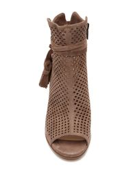 Vince Camuto - Brown Kamey Perforated Open Toe Bootie - Lyst