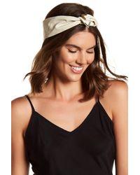 Cara - White Twist Detail Headwrap - Lyst