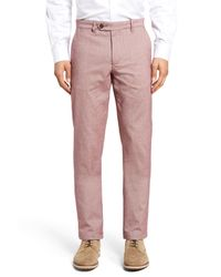 Ted Baker | Red Volvek Classic Fit Trousers for Men | Lyst
