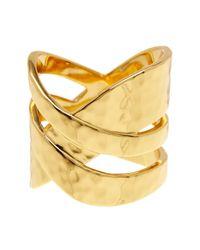 Gorjana | Metallic Amanda Crossover Ring - Size 6 | Lyst
