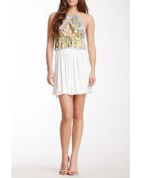 Sky - White Rotan Halter Tunic Dress - Lyst