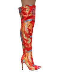 Cape Robbin - Gigi Embroidered Thigh High Boot - Lyst