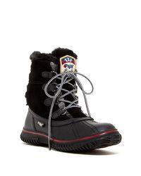 Pajar | Caroline Snow Boot Black Fabric | Lyst