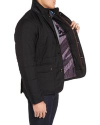 Ted Baker - Black Jasper Trim Fit Quilted Jacket With Removable Bib for Men - Lyst