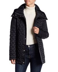 Marc New York - Black Calypso Quilted Removable Hood Jacket - Lyst
