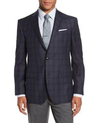 Ted Baker - Blue Trim Fit Plaid Wool Sport Coat for Men - Lyst