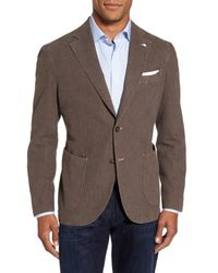 Lubiam - Brown Classic Fit Cotton Blend Blazer for Men - Lyst