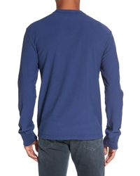 James Perse - Blue Classic High Twist Jersey Henley for Men - Lyst