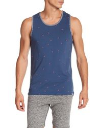 Sovereign Code - Blue Lowe Pineapple Embroidered Tank Top for Men - Lyst