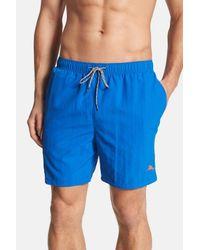 Tommy Bahama - Blue 'happy Go Cargo' Swim Trunks for Men - Lyst