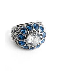 St. John | Blue Swarovski Crystal Cocktail Ring | Lyst
