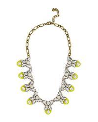 BaubleBar - Metallic Madeline Stone, Crystal, & Enamel Accented Bib Necklace - Lyst