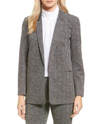 Vince Camuto | Multicolor Herringbone Jacquard Open Front Jacket | Lyst