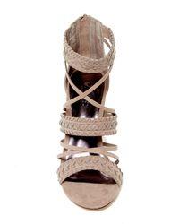 Carlos By Carlos Santana - Brown Java Block Heel Sandal - Lyst