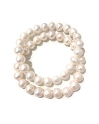 Charlene K | White 80mm Genuine Pearl Bracelet - Set Of 2 | Lyst