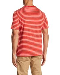 Jack Spade - Red Stripe Pocket T-shirt for Men - Lyst