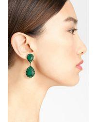 Loren Hope - Green Crystal Drop Earrings - Lyst