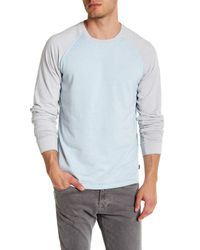 Threads For Thought - Blue Washed Raglan Sleeve Sweatshirt for Men - Lyst