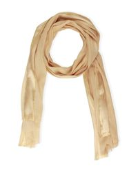 Saachi | Natural Taupe Gold Trim Wrap | Lyst