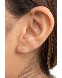Dogeared - Metallic 14k Gold Plated Sterling Silver Chevron Stud Earrings - Lyst