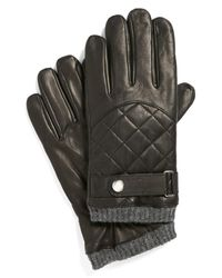 Polo Ralph Lauren - Black Quilted Racing Gloves for Men - Lyst