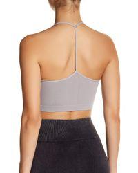 Nikibiki - Gray Skinny Y-strap Back Bralette - Lyst