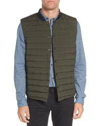 Scotch & Soda - Green Down Vest for Men - Lyst