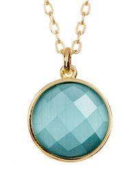 Melinda Maria - Metallic Hunter Round Cat's Eye Stone Pendant Necklace - Lyst