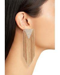 Panacea - Metallic Crystal Fringe Earrings - Lyst