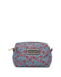 Marc Jacobs - Blue Floral Printed Large Cosmetic Case - Lyst