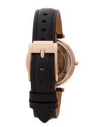 MICHAEL Michael Kors - Black Women's Small Parker Leather Strap Watch - Lyst