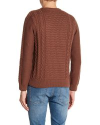 Barque - Brown Fisherman's Cable Knit Sweater for Men - Lyst