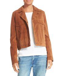 Vince | Multicolor Suede Jean Moto Jacket | Lyst