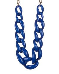 BaubleBar - Blue Linked Up Statement Necklace - Lyst