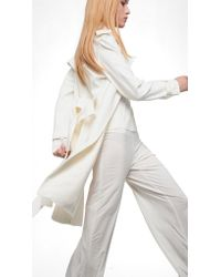 Norma Kamali | White Double Breasted Trench | Lyst