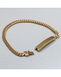 A.P.C. | Metallic Marc Chain Bracelet In Brass for Men | Lyst
