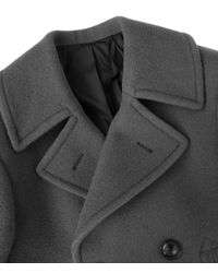 Lemaire - Gray Caban Wool Peacoat - Lyst
