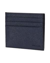 Prada - Blue 17ss Men's Card Holder Saffiano Baltico for Men - Lyst
