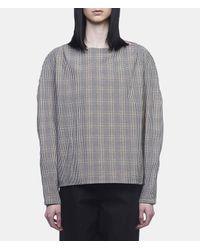 Lemaire - Gray Large-sleeve Blouse - Lyst