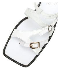 MM6 by Maison Martin Margiela - White Square Toe Multi-strap Sandal - Lyst