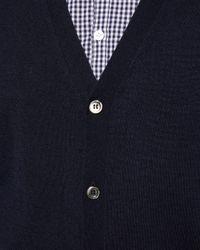 N.Peal Cashmere - Blue Fine Gauge Cardigan for Men - Lyst