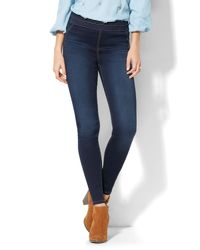 New York & Company - Blue Soho Jeans - High-waist Pull-on Legging - Rinse - Lyst