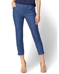 New York & Company - Blue The Audrey Crop Pant - Denim - Lyst