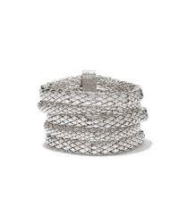 New York & Company - Metallic Multi-row Mesh Coil Bracelet - Lyst