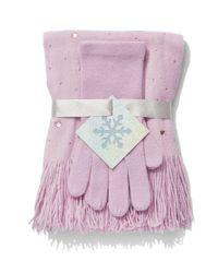 New York & Company - Pink 2-piece Jeweled Scarf & Gloves Set - Lyst