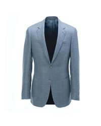 Canali - Blue Check Sportcoat for Men - Lyst