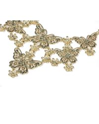 Oasis - Metallic Butterfly Collar - Lyst